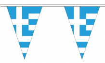 Greece Triangular Flag Bunting - 20m Long - 54 Flags